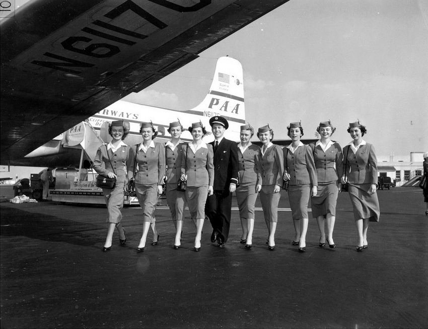 Pan Am Stewardesses 1950s