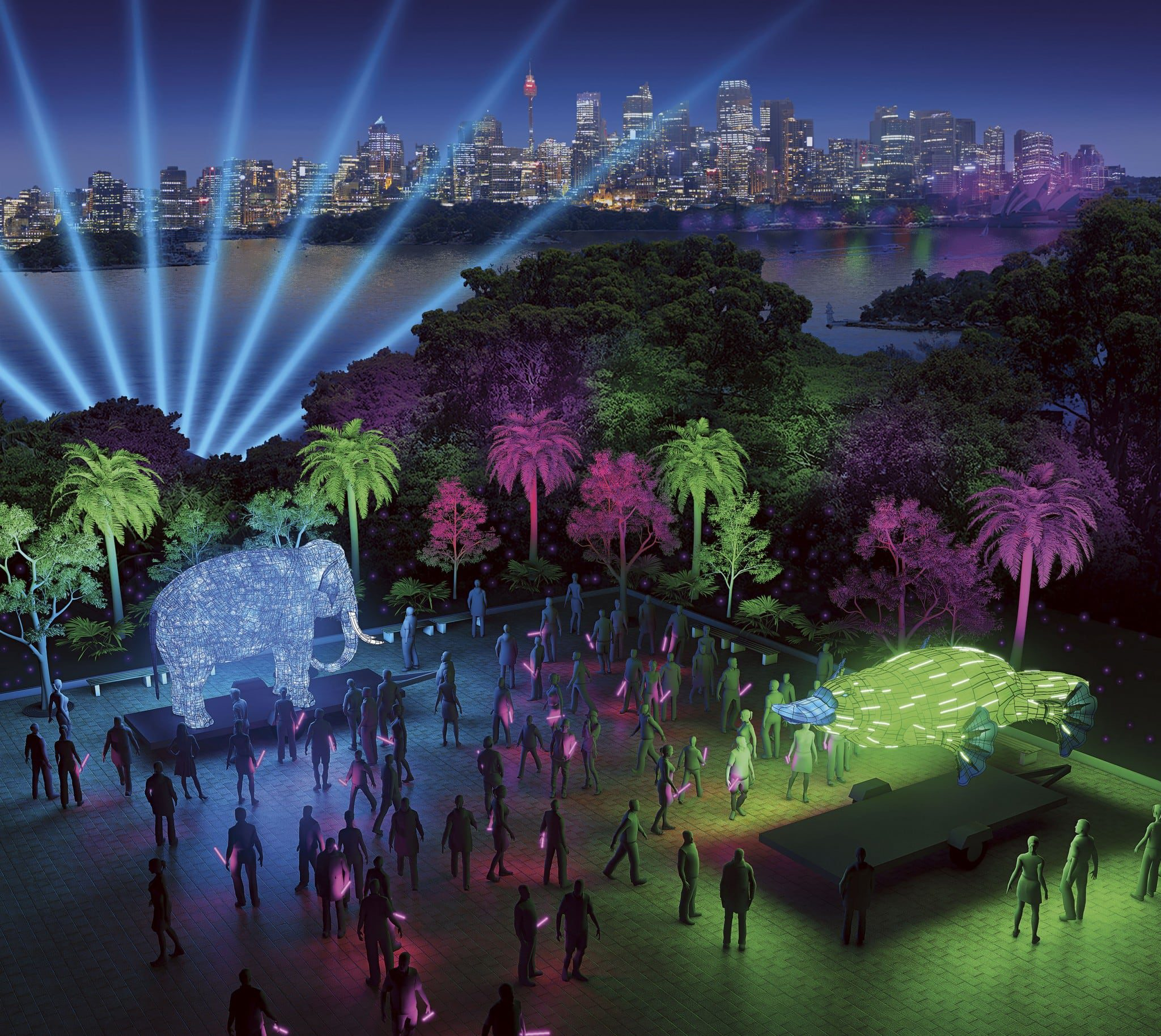 Taronga Zoo, Be the Light for the Wild - artist impression by Ample Projects_0