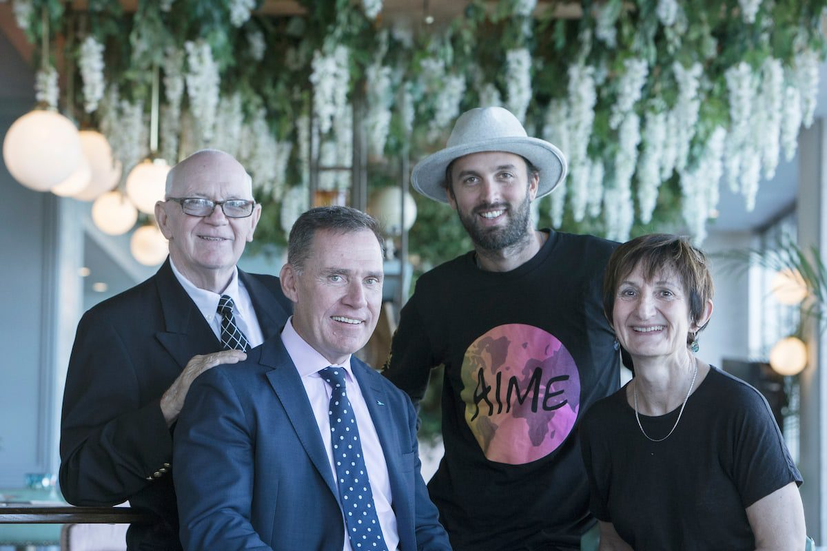 Simon McGrath with AccorHotels' charity partner CEOs in the Hacienda room at Pullman Sydney Quay Grand, on Thursday, 23rd of February 2017, Sydney, Australia (Photo: Steve Christo)