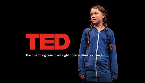 Greta Thunberg speaking at Ted