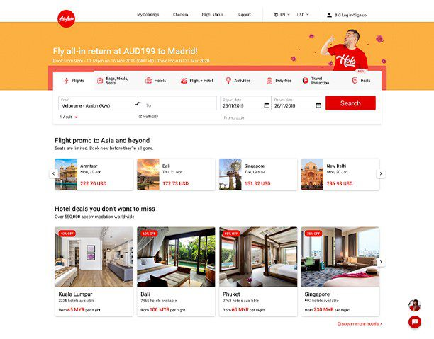 AirAsia's new site